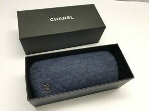 Case Chanel Eyeglasses Eyeglass Sunglasses Hard Small Leather Italy