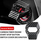 Car Carbon Fiber Engine Start Stop Push Button Switch Cover Trim Car Accessories