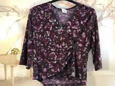 Ladies Women's gathered Eastex Stunning Wrap Tunic Top Plus Size UK 16 EU 42