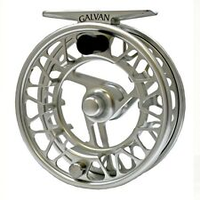 Galvan Brookie B 2/3 Ultra Lightweight Large Arbor Fly Reel Clear Silver Color< 00006000 /a>
