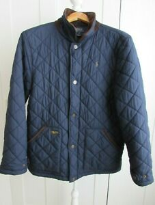 Polo Ralph Lauren Boys Size XL 18/20 Navy Quilted Jacket