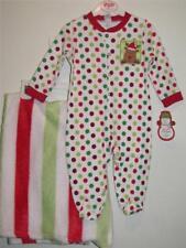 New Baby Gear MY FIRST CHRISTMAS Reindeer Sleeper & Faux Fur Blanket Set Sz 3-6M