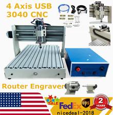 4 Axis Usb 3040 Cnc Router Engraver Milling Engraving Machine Desktop Engraving