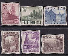 1953 Norfolk Island Definitines Set (6) to 5/- Bloody Bridge MH         REF:NI01