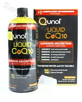 Qunol Liquid CoQ10 100 mg Superior Absorption Orange Mango 30.4oz Exp: 04/2022