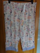 M & S 2 x Stretchy Pull On Pyjama Bottoms BNWT Size 20