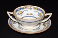 Minton PRINCESS (Yellow Flower) K109 Footed Bouillon Cup/Cream Soup & Saucer Set