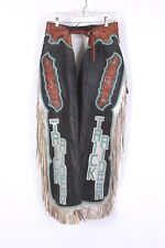 VTG WESTERN RODEO PARADE  FRINGE LEATHER RIDING COWBOY CHAPS