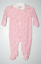 WOW~ JUICY COUTURE sz 3/6 mth PINK CHEETAH VELOUR SLEEPER OUTFIT GIRLS
