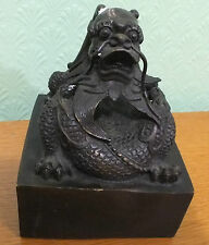 GRANDE Drago Cinese Bronzo Seal