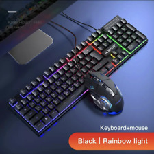 NEW Rainbow Light Gaming Keyboard and Mouse Set for PC Laptop.