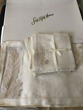 ANTIQUE LINENS-SUPERB MADEIRA ORGANDY AND LINEN PLACEMATS AND NAPKIN SET