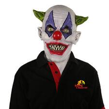 Creepy Evil Scary Halloween Clown Mask Rubber Latex Green Horned Clown FREE SHIP