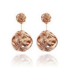 Vintage Women Elegant Gold Silver Drop Dangle Ear Stud Earrings Jewelry
