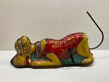 "1939 Marx Disney ""Roll-Over Pluto"" Tin Wind-Up Toy - Disneyana Litho"