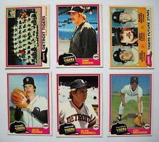 1981 Topps Detroit Tigers Team Set (28 cards) Near Mint - Mint