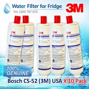 10 PACK Bosch CS-52 Internal Fridge Water Filter Cuno 3M USA 5586605 640565