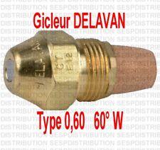 Gicleur fioul fuel 0,60 0,60° W  marque DELAVAN chaudière fioul nozzle