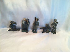 5 Collectible Vintage Antique Led Metal WWI World War One Toy Soldier Army Men