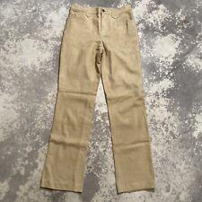 LAUREN RALPH LAUREN Beige/Tan Suede High Rise Western Style Pants Size 6 Preown