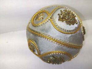 Silver And Gold Trim Christmas Ornament