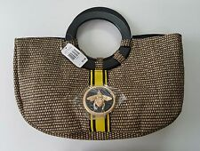 """Ladies' Straw Purse """"Be Straw Bag"""" with Bee Medallion by Braciano New With Tag"""