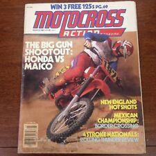 MOTOCROSS ACTION MARCH 1981 MAICO 490 VS HONDA CR450  4 STROKE NATS VINTAGE VMX