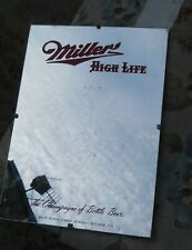 """VINTAGE 1959 """" MILLER HIGH LIFE """" BEER MIRROR  SIZE IS 9"""" W X 12.5"""" TALL"""