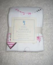 New Pottery Barn Kids Owl Flannel Pillowcase - Holiday! Rare!