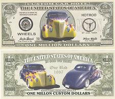 Custom Car Million Dollar Bill Collectible Fake Play Funny Money Novelty Note