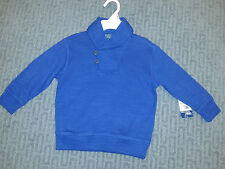 NWT Ralph Lauren Boys Size 5 Blue Shawl Collar Pullover Sweater Sold for $55