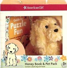 American Girl Honey Book & Pet Pack Golden Retriever Puppy Dog Plush NIB NRFB