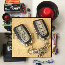 Car Alarm Security System + Remote Central Locking Kit Shock Sensor Immobiliser