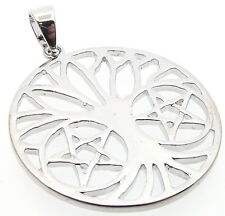 Tree of Life Pendant Pagan Double Pentacle Pentagram