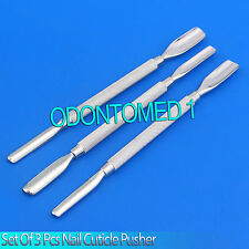 New Set 3 Pcs Nail Cuticle Pusher 1 Manicure Pedicure Stainless Steel,BTS-132