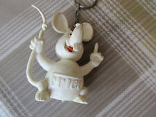 Original FRICO White Mouse Shape DUTCH Cheese Advertising Keyring