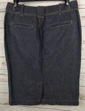 Talbots Straight Denim Skirt Size 4 Linen Cotton