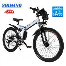 26'' Electric Bike Ebike Mountain Bike City Folding Cycling Shimano 21Speed 250W