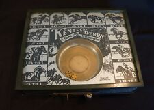 Rare Table Top Kentucky Derby Rolling Dice A Game For Amusement Toy Horse Racing