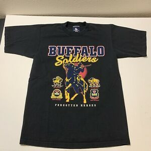 Buffalo Soldiers T-Shirt Forgotten Soldiers Black Hero's USA Men's Size L