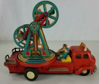 Vintage Nomura tin Ferris Wheel made in Japan battery operated.  Not working