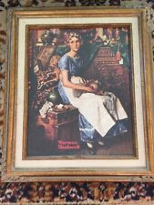 Norman Rockwell Dreaming In The Attic Canvas Reproduction Framed Matted