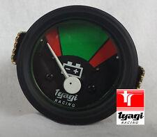 Vintage Van CAR Tractor GAUGE Clock 12 V BATTERY METER BLACK DIAL Ammeter