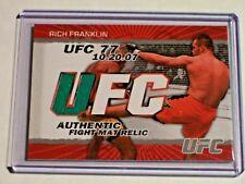 2009 Topps UFC Fight Mat Relic Rich Franklin UFC 77