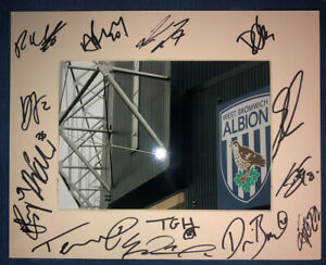 West Brom Albion WBA 21/22 HAND SIGNED 10x8 MOUNT DISPLAY Signed By 15 Players D