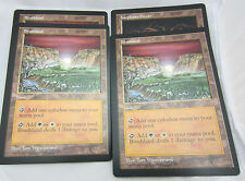 MTG Magic Oversized 6X9 Arena + Promo Lot of 4. 3x Brushland 1x Karplusan Forest