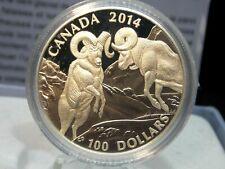 2014 Canada $100 Ram Wild Life Proof Silver 1 oz. Coin Box & COA ECC&C, Inc.