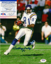 Anthony Carter Signed 8x10 Color Action Photo-PSA/DNA-Football Minnesota Vikings