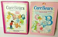 Care Bears Lot Of 2 HB Books 1983 Caring Is What Counts Baby Hugs Bear Alphabet