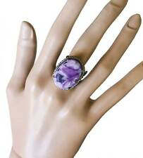 African Violet Collection Oval Cocktail Ring By Sorrelli, Puple Jasper